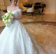 thai wedding dress robe de mariage thailand luxury lace wedding dresses with capped