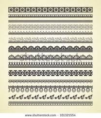 various elements of vector silhouette lace border 55 elements