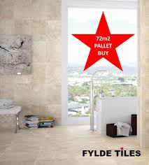 72m2 pallet buy cream beige marble effect 30cm x 41 6cm bathroom
