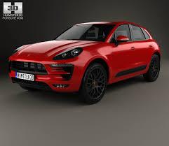 Porsche Macan Red - porsche macan gts 2017 3d model hum3d