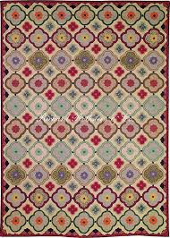 hooked rug historic design stained glass window
