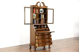 Secretary Desk Cabinet by Sold Traditional 1950 Vintage Secretary Desk Bookcase Top
