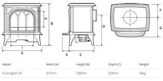 gazco huntingdon 20 tracery door electric stove