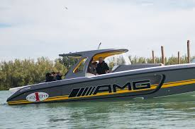 lexus v8 in boat mercedes amg cigarette racing reveal gt3 inspired boat in miami