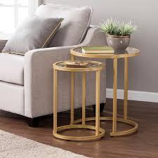 gold nesting coffee table harper blvd elisha glam nesting side table 2pc set gold free