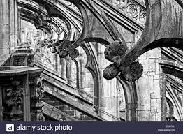 ornaments on flying buttresses milan cathedral duomo di