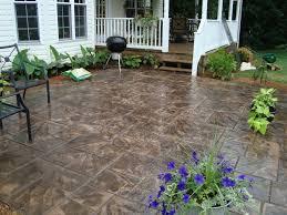 Backyard Concrete Ideas Stone Texture Stamped Concrete Patio Wood Stamped Concrete