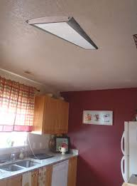 kitchen lighting replace fluorescent light fixture in cone silver