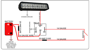 1224 cree led light bar wiring diagram led light bar u0026 relay wire