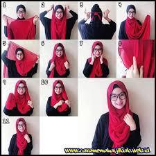 simple hijab styles tutorial segi empat gambar tutorial segi empat tutorial hijab pinterest