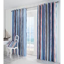 blue striped curtains amazon co uk
