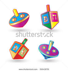 dreidel lights hanukkah festival lights dreidel small foursided stock vector