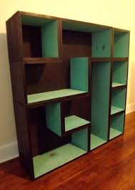 custom tetris bookcase black turquoise by 919 design custommade com