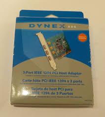 amazon com dynex 3 port firewire ieee 1394 pci card computers