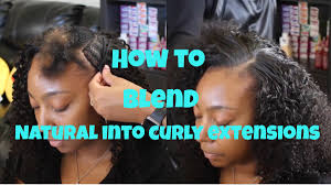 Hair Extensions St Louis Mo by How To Blend Natural Hair With Curly Weave Hair Extensions Youtube