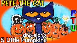 Halloween Cat Poem Pete The Cat Five Little Pumpkins Book Shoes Reading Out
