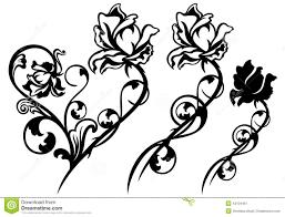 rose flower decor stock vector image 42104461