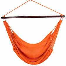 Chair Swing Jumbo Caribbean Hammock Chair Orange 55 Inch