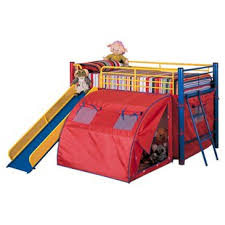 Bunk Bed With Slide And Tent Slide Bunk Loft Beds You Ll Wayfair