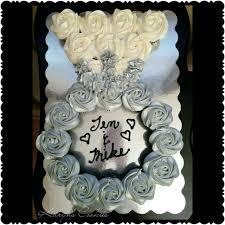 engagement ring bridal shower wedding cupcakes cake pull apart
