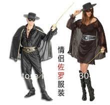 Zorro Costumes El Zorro Halloween Costume Men U0026 Women Zorro Disfraz Adulto Compra Lotes Baratos Zorro Disfraz