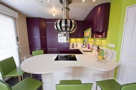 bar de cuisine design cuisine pep s vert violet et blanc