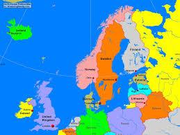 Europe Peninsulas Map A Map Of Northern Europe Thefreebiedepot
