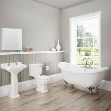 panelled bathroom ideas tounge and groove as back panel for toilet cistern and basin