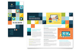 Tri Fold Program Advertising Company Tri Fold Brochure Design Template By