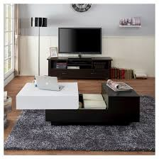 21 coffee tables with storage cami modern two tone storage coffee table white black homes