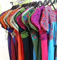 wholesale 10 san antonino dresses hand embroidered mexican