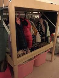 simple no kids clothes rack on ivar ikea hackers ikea