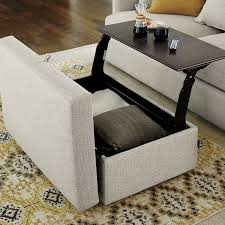 Lounge Ii Storage Ottoman With Tray Ottomans Trays And Room