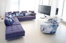 canapé original coloré salons tissu