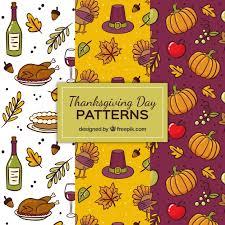three thanksgiving patterns vector free