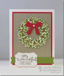 sweet and simple christmas card with wondrous wreath northwest
