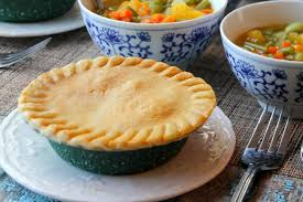 hungry harps chicken pot pie served with easy vegetable soup