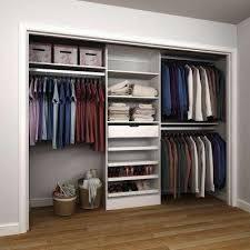 Wooden Closet Shelves by Melamine Wood Closet Organizers Closet Storage U0026 Organization
