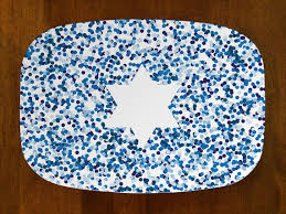 hanukkah plate hanukkah table florence isabelle