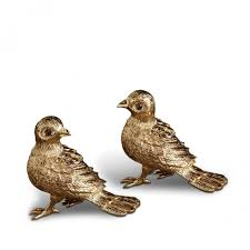 wedding salt and pepper shakers l objet salt and pepper shakers birds gold