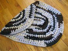 Handmade Rag Rugs For Sale Sale Rag Rug Round Handmade Crochet Rustic Cottage Multi Color