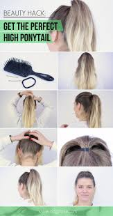how to get the perfect high ponytail beauty hack hairstyles