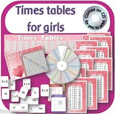 times tables pdf maths resources 4 girls posters wheel games ks1