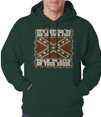 die on your feet rebel flag hoodie