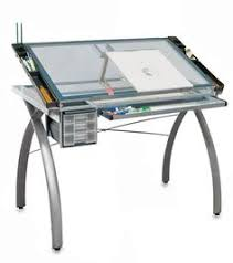 Glass Top Drafting Drawing Table Futura Drafting Table With Glass Top Craft Station Work Surface