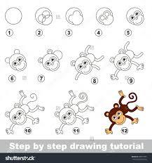 drawings of monkeys step by step kids coloring europe travel