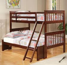Bunk Bed Without Bottom Bunk Black Wooden Bunk With Beds And Ladder In Brown Bedroom