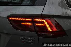 tiguan volkswagen lights 2017 vw tiguan taillight glow first drive review indian autos blog