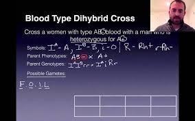 blood type dihybrid cross genetics problem youtube