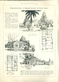 Foursquare House Plans by 1927 100 Bungalows Of Frame And Masonry Construction Vintage